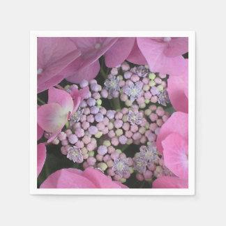Guardanapo lindo da flor do Hydrangea do laço