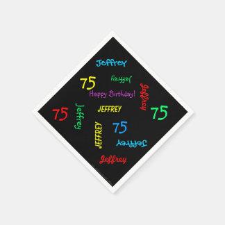 Guardanapo pretos, 75th festa de aniversário que