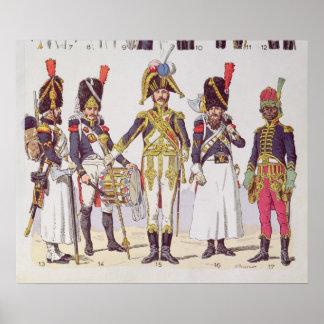 Guardas do granadeiro do primeiro império impressão