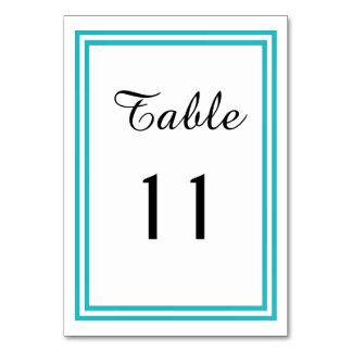 Guarnição dobro da cerceta - cartão da mesa