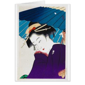 Gueixa oriental legal de Takane Koko com Cartão De Nota