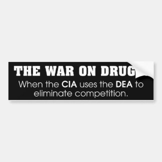 Guerra em drogas adesivo para carro