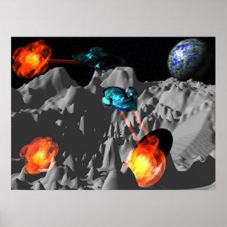Guerra na lua impressão