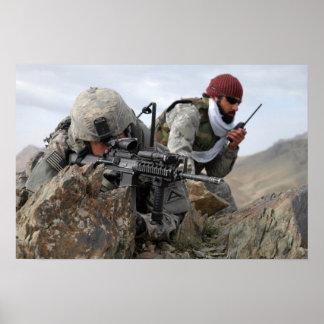Guerreiros legal do soldado militar afegão poster