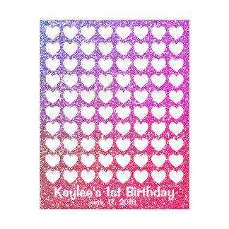 Guestbook cor-de-rosa da impressão digital da