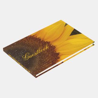 Guestbook floral da fotografia da flor do girassol livro de visitas