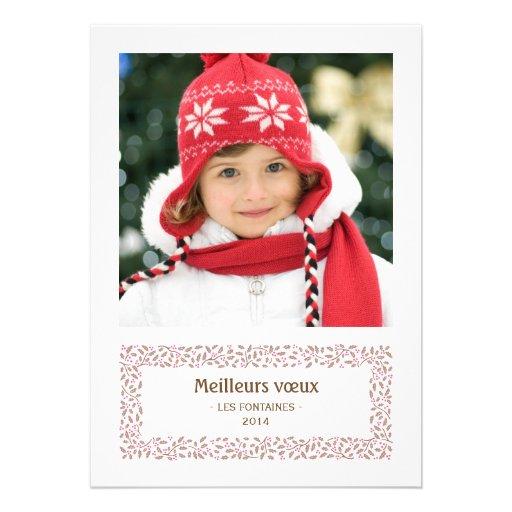 gui de Noël carte de photo de vacances Convites Personalizado