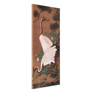 Guindastes, belas artes do japonês de Watanabe Impressão Em Tela