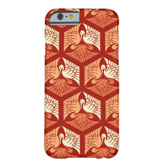 Guindastes, o mandarino e luz japoneses - laranja capa barely there para iPhone 6