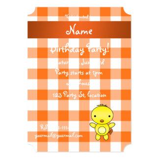 Guingão conhecido personalizado da laranja do convite