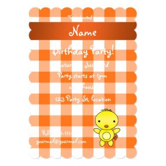Guingão conhecido personalizado da laranja do convites
