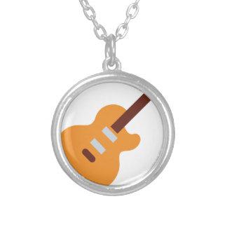 Guitar - Twitter Emoji Colar Com Pendente Redondo