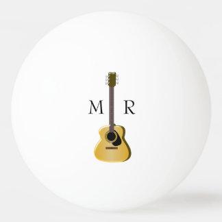 Guitarra acústica Monogrammed Bola Para Tênis De Mesa