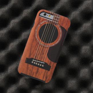 Guitarra acústica superior de mogno capa para iPhone 6 tough