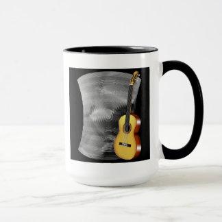 Guitarra e folha de música caneca