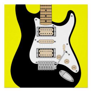 Guitarra elétrica poster perfeito