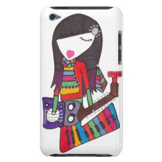 guitarra & menina do piano na capa do ipod touch capa para iPod touch