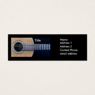 Guitarrista clássico cartão de visitas mini