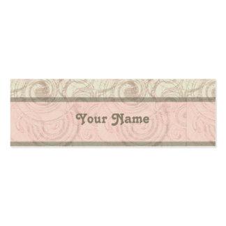 Guloseima no cartão cor-de-rosa do cerco do cartão de visita skinny