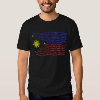 Guloseimas da bandeira e do filipino camiseta