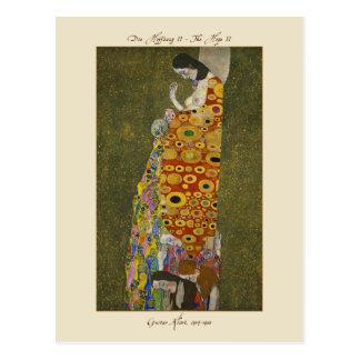 Gustavo Klimt a esperança II 1907-1908 cartão