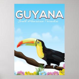 Guyana sul - poster de viagens americano do pôster