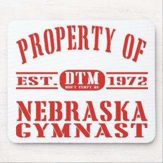 Gymnast de Nebraska Mouse Pad