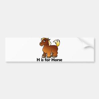 H é para o cavalo adesivo para carro