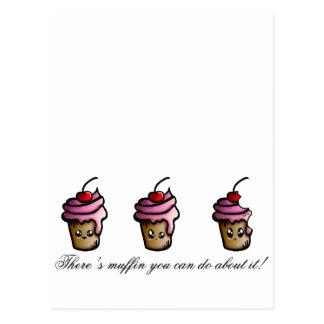 Há muffin que você pode fazer sobre ele cartão postal