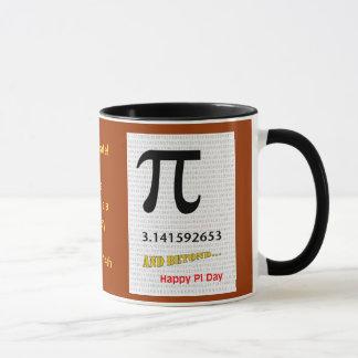 Há Pi dia um 14 de março feliz, caneca