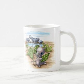 Há um rinoceronte novo na caneca do disfarce do