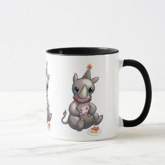 Há um rinoceronte novo na caneca do feliz