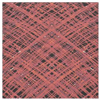 Hachura vermelha tecido