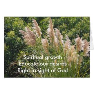 Haicais espirituais do crescimento cartão comemorativo
