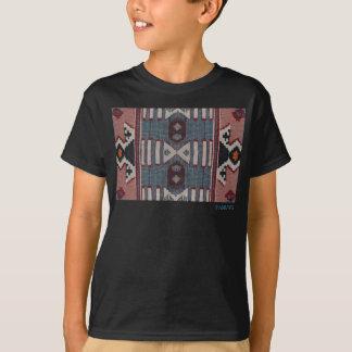 HAMbWG - camisa do T das crianças - azul vermelho