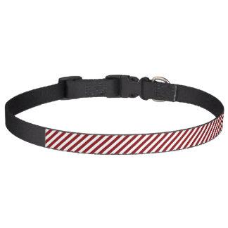 HAMbyWG - coleira de cão - vermelho & branco