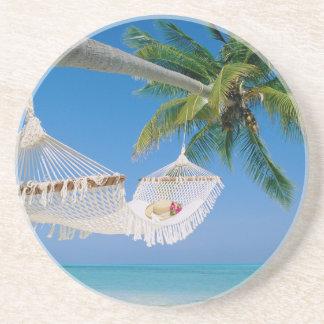 Hammock das férias do paraíso da praia porta copos para bebidas