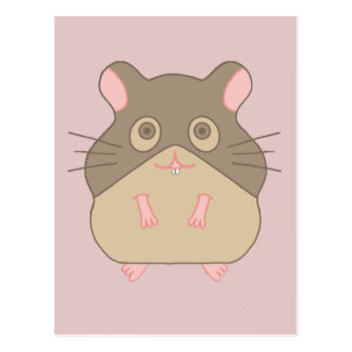 Hamster carnudo cartão postal