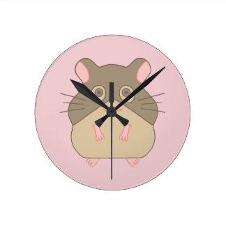 Hamster carnudo relógios para paredes