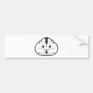 Hamster semi branco carnudo do anão do russo adesivo para carro