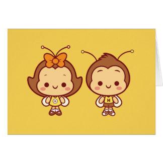 Hana e Hachi Notecard Cartão De Nota