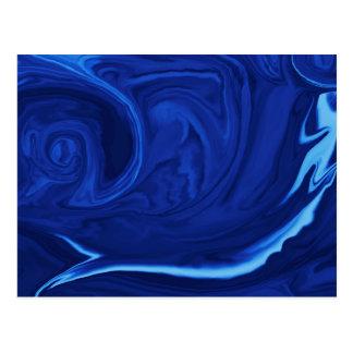 Handmade Textured fundo dos azuis cobaltos Cartão Postal