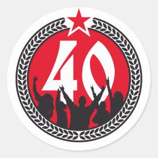 Happy birthday 40 years adesivo