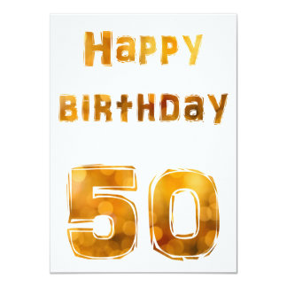 Happy birthday 50 convites