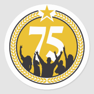 happy birthday 75 years adesivo