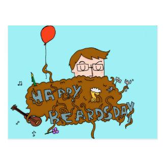 happy birthday beardsday cartão postal