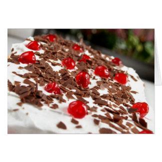 Happy Birthday Cake tarte cremoso ao aniversário Cartão Comemorativo