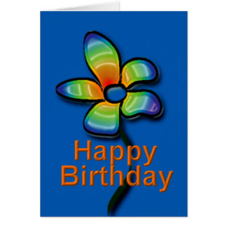 Happy Birthday card Cartão Comemorativo