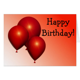 Happy Birthday Card: Three conversas Balloons Cartão Comemorativo