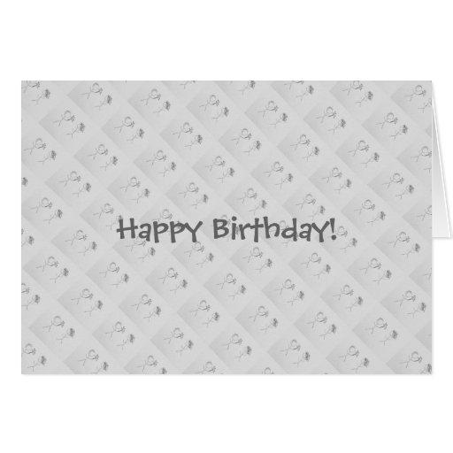 """""""Happy Birthday """" Cartao"""